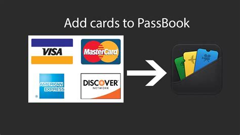 Add Gift Card To Passbook - add bank cards to passbook credit cards debit cards etc youtube