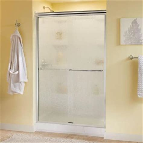 Delta Glass Shower Doors Delta Simplicity 47 3 8 In X 70 In Bypass Sliding Shower Door In Polished Chrome With Semi