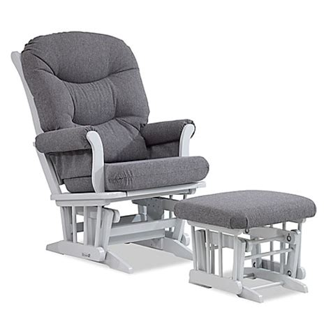 grey glider and ottoman buy dutailier 174 sleigh glider and ottoman in grey charcoal