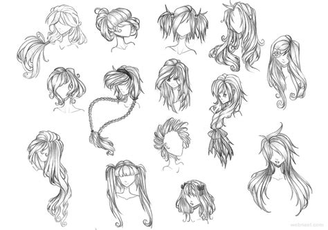 how to draw easy anime hair draw anime hair 23