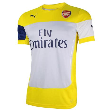 arsenal yellow kit 2014 2015 arsenal puma training shirt yellow 74640805m