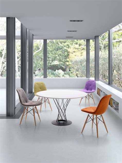 classy orange modern dining room chairs contemporary