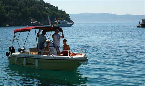 boat hire kassiopi prices ranieri 115 corfu kalami boat hire blue bay boats