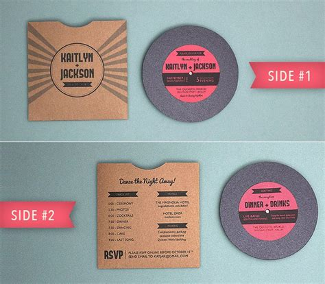 printable vinyl invitations totally free totally rockin diy vinyl record wedding