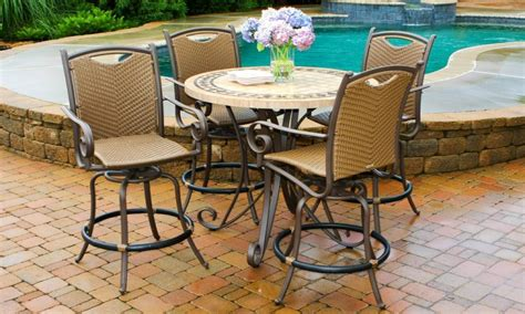 Outdoor Patio Table Set High Top Patio Table And Chairs High Top Patio Furniture Set