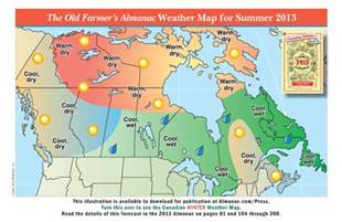 weather map of canada promotional weather maps from the farmer s almanac