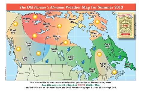 weather map of us and canada promotional weather maps from the farmer s almanac