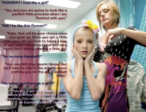 boy becomes girl captions little girl dance crossdressing captions
