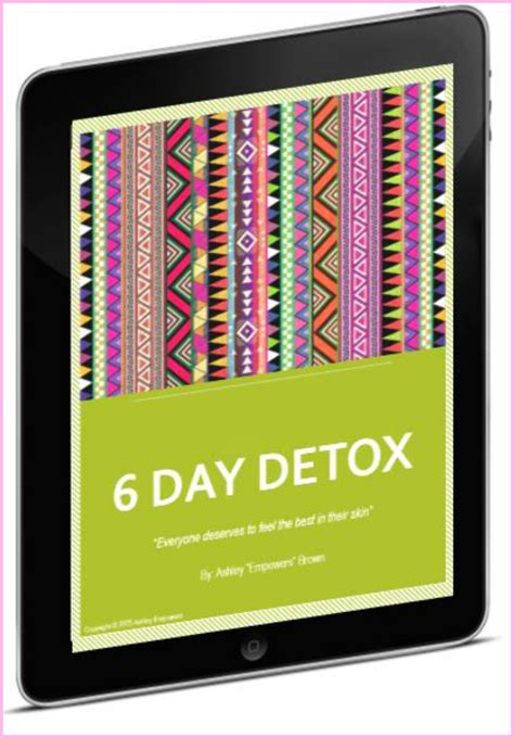 6 Day Detox by 6 Day Juice Detox Planner Empowers
