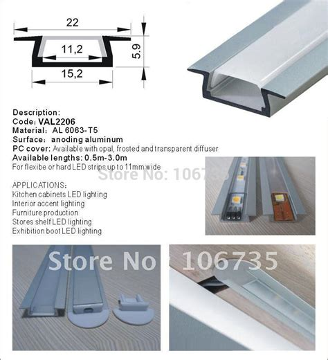 Under Cabinet Strip Lighting Kitchen by Aluminum Led Strip Light Channels Slim Version For An