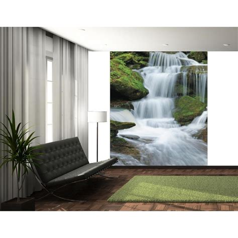 1 wall mural 1 wall tropical forest waterfall wallpaper mural 1 58m x 2 32m