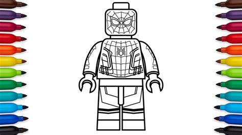 lego spiderman coloring pages games lego spiderman coloring pages