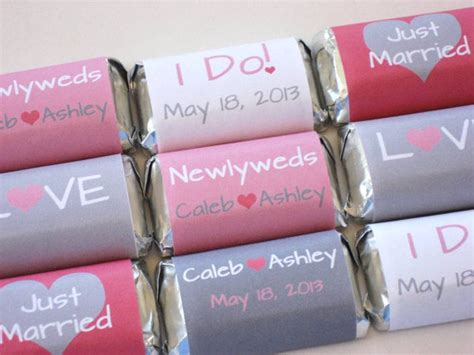 personalized wedding chocolate wrappers modern diy candy