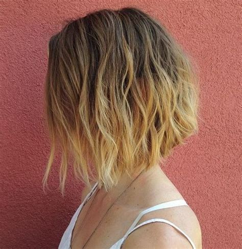 a line bob ombre 50 messy bob hairstyles for your trendy casual looks