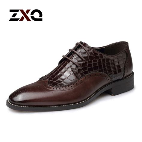 Pointed Genuine Leather Oxfords brown oxford shoes leather chinaprices net