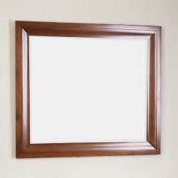 wood frame bathroom mirror prelude rectangle cherry finish wood framed mirror 3 2 x