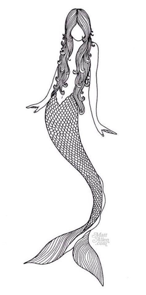 black white mermaid mermaid black white drawing tat tat tat it uppp