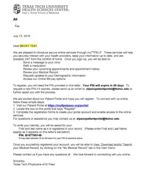 Patient Portal Letter Emr Newsletter