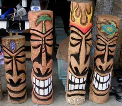 tiki pole designs images