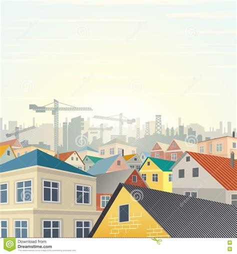 housing development template housing development vector stock vector image 80323105