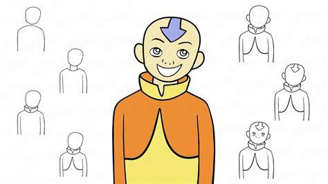 desenho passo a passo como desenhar avatar aang do desenhos animados