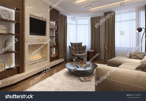 avant room living room avantgarde style 3d render stock illustration 263258849