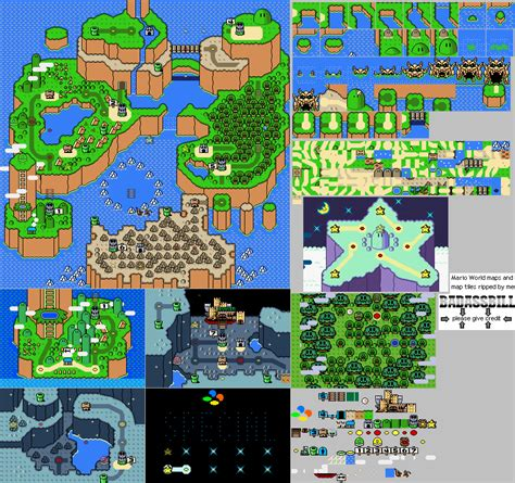 mario world map snes mario world world map the spriters resource