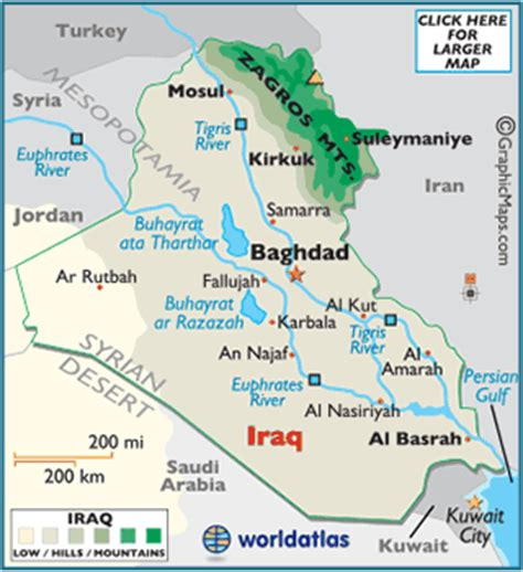 map of baghdad iraq iraq map geography of iraq map of iraq worldatlas