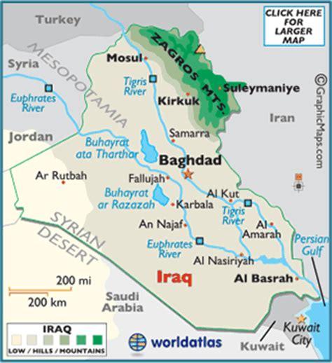 rivers in iraq map iraq map geography of iraq map of iraq worldatlas