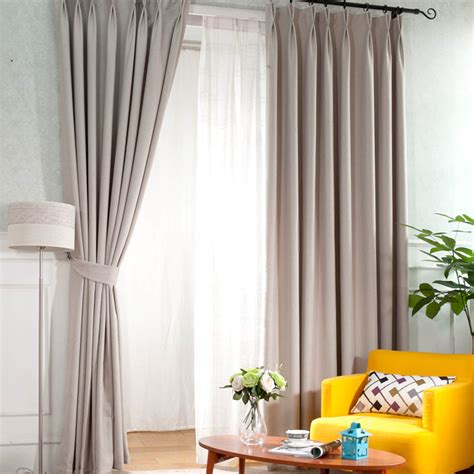modern home curtains modern home linen and cotton blended heat insulating curtains