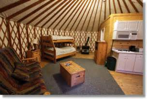 Yurt Photos Interior Yurt Interior At The Yosemite Lakes Resort Buck Meadows