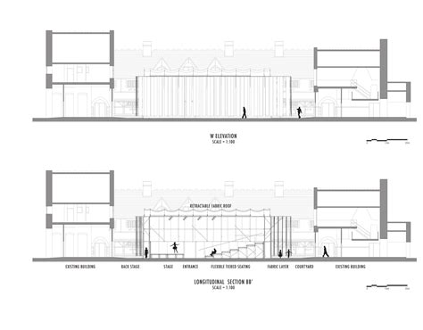 stage sections gallery of willow theater tim lai architect brad