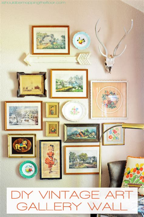vintage bedroom wall art i should be mopping the floor diy vintage art gallery wall