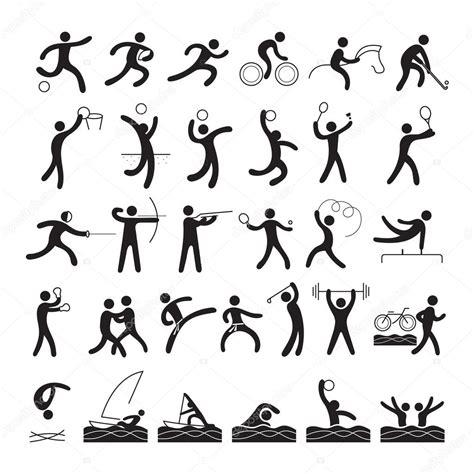 imagenes vectoriales wmf deportistas conjunto de s 237 mbolo archivo im 225 genes