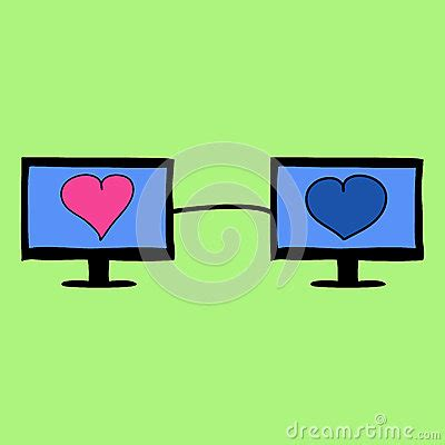 images of virtual love virtual love stock vector image 44366186