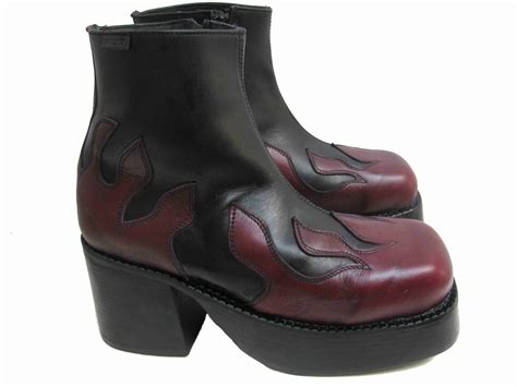 platform boots mens mens platform boots vintage destroy black and burgundy