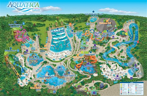 seaworld texas map park map aquatica san antonio