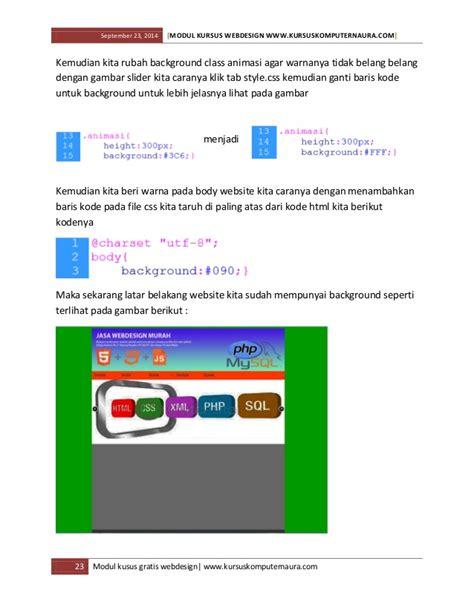 membuat template website dengan html dan css modul dan ebook belajar membuat website untuk pemula