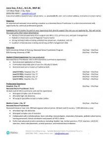 Nicu Resume by Neonatal Practitioner Sle Resume For Seekers Melnic