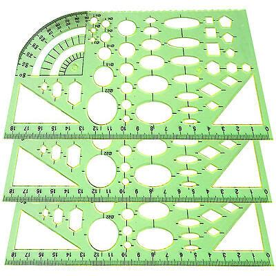 Great Plastic Circles Geometric Building Template Ruler Stencil Measuring Tool Waf Project Template