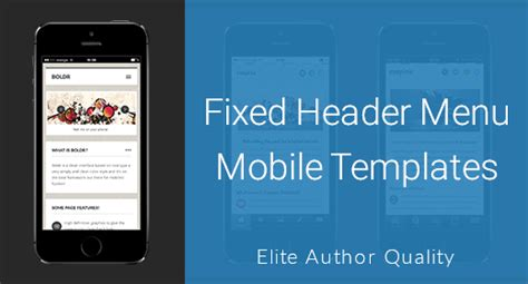 mobile menu template enabled s profile on themeforest