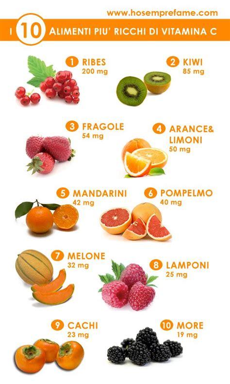 alimenti ricchi di zinco selenio e vitamina c 10 alimenti frutti ricchi di vitamina c salute e