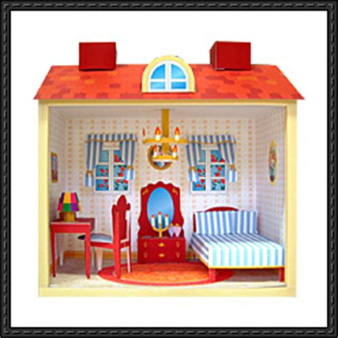 diorama house doll house papercraftsquare free papercraft download