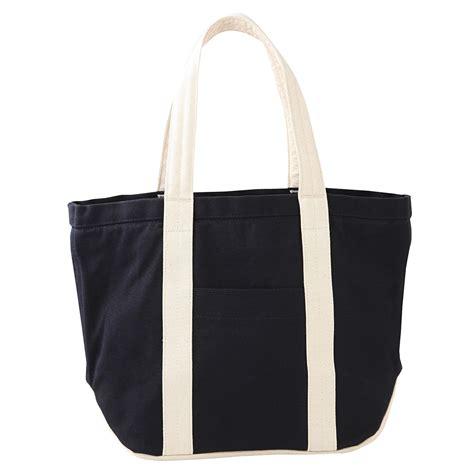 Canvas Tote Bag 6 organic cotton no 6 canvas tote bag navy ecru muji
