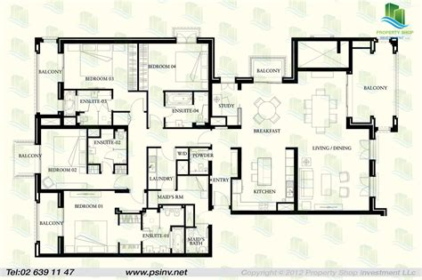 4 floor apartment plan 4 bedroom type a unit floor plan st regis apartment st