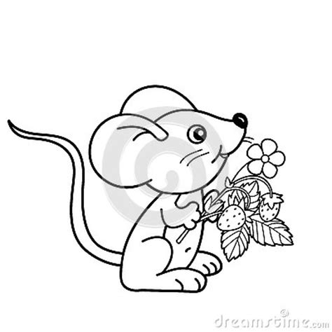 small mouse coloring page coloring page outline of cartoon little mouse with
