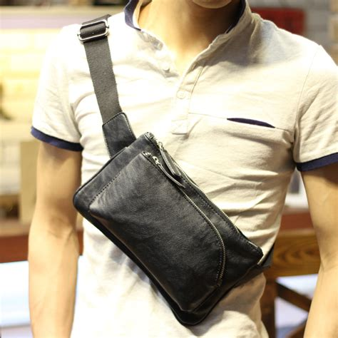 Bag Kulit Unisex Pu Leather ᓂsales promotion pu leather ᐃ chest chest pack small