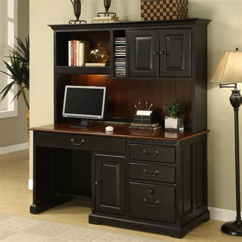Computer Desk With Hutch Riverside Bridgeport 58 In Computer Desk With Optional