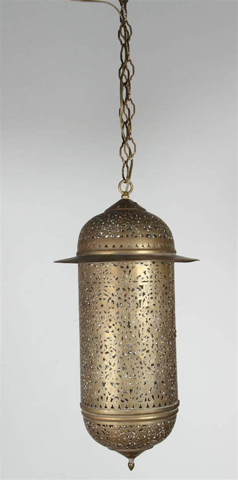 Moroccan Pendant Light Vintage Moroccan Brass Filigree Pendant Light Fixture At 1stdibs