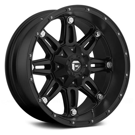 black wheels fuel 174 d531 hostage 1pc wheels matte black rims